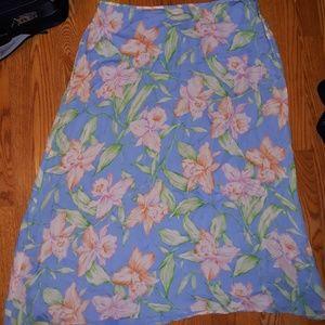 Vintage Ralph Lauren Maxi Silk Skirt
